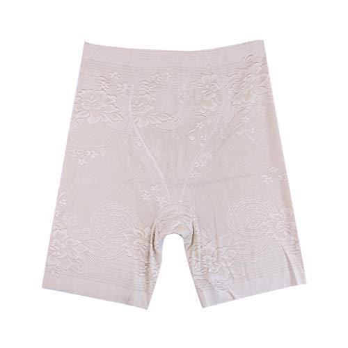 Exier Thin Plus Size Body Shapers Mid Waist Shaper Thighs Shapewear Waist  Legs Control Panties Panty Shapers Beige
