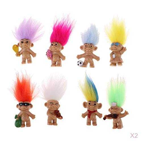 12 or 24 Pieces JDProvisions Mini Trolls PVC Novelty Mini Figurines Party Bag Fillers
