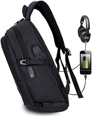 Waitousanqi 外部USB充電コネクタ、ヘッドフォンジャック、盗難防止ロック付きのシンプルな大容量多機能旅行カジュアルバックパック(色:黒)/ 50 * 28 * 18 cm A15