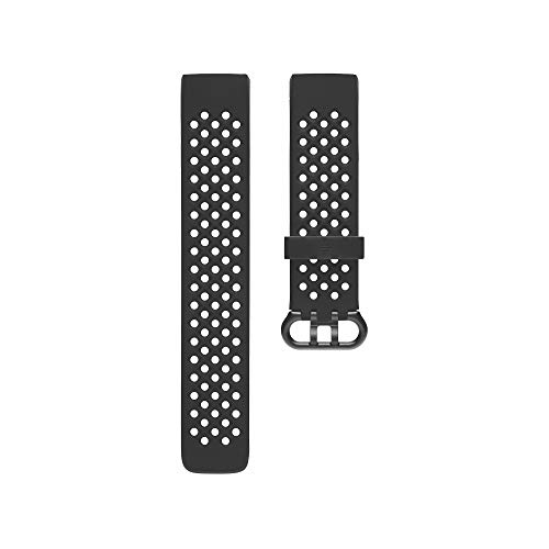 Fitbit Charge three, Accessory Sport Band, Black, Large – DiZiSports Store
