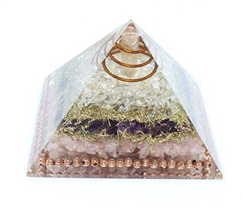 - Flower of Life RCA Orgone Copper Pyramid for EMF Protection-Meditation-Yoga-Psychic-Heart Chakra Healing