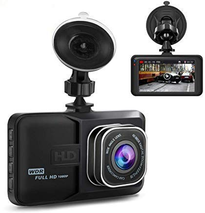 Dash Cam,Dashboard Camera 1080P HD,Ananteke Driving Video Recorder with 3 Inch LCD, Parking Monitoring,Motion Detection, G-Sensor, LED Compensation