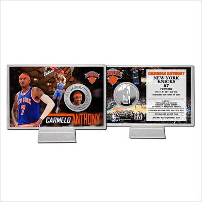 NBA New York Knicks Carmelo Anthony Silver Coin Card