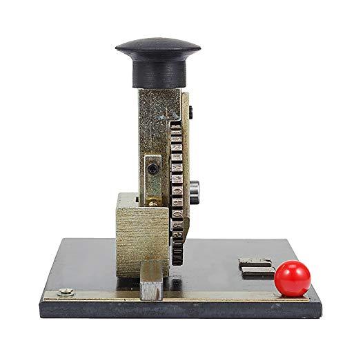 VEVOR Sheet Embosser Manual Deboss Metal Embosser Machine Dog Tag Specific Model Date Serial Number Stamping Embossing Marking Machine with 4MM Print Wheel by VEVOR (Image #3)