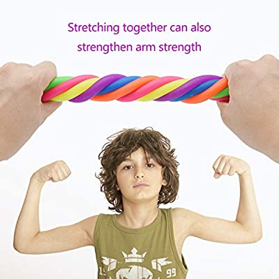 ZXK CO Stretchy String Fidget Sensory Toys 16 Pack (BPA/Phthalate/Latex-Free) Build Resistance Squeeze Pull, Good for Kids with ADD/ADHD/Autism, Adults to Strengthen Arms, Reduce Stress and Anxiety: Toys & Games