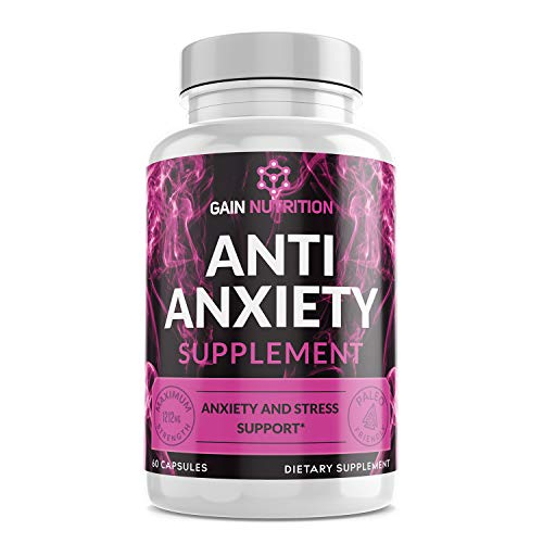Anti-Anxiety Supplement - Crafted To Keep Busy Minds Relaxed, Focused & Positive; Supports Serotonin Increase; With Vitamin B Complex, Chamomile, Ashwagandha, and More - 60 Capsules