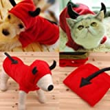 UR Dog Costumes Pet Dog Cat Fancy Devil Costumes Puppy Coat Hoodie Jumpsuit M