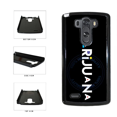 BleuReign(TM) Funny Marijuana Sign Plastic Phone Case Back Cover For LG G3