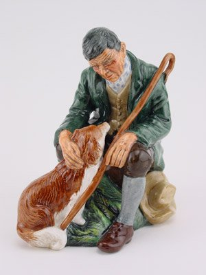 Incredible Royal Doulton Hn2325 the Master Dog & Master -