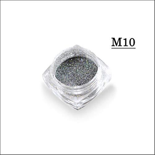 1G Mermaid Pigment Powder White/Silver/Gold Super Shine Magic Nail Art Glitter Dust Colorful Tips CHM05/09/10 M10