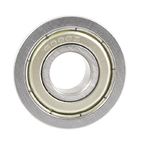 Uxcell a12111600ux0212 Roller-Skating Skateboard 6000Z Flanged Ball Bearing 10mm x 26mm x 8mm, 0.31