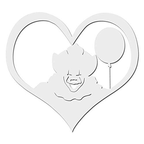 I LoveホラーClowns withレッドバルーン – ビニールデカール屋内または屋外の使用、車、ノートパソコン、飾り、Windows、and More 10 Inch ホワイト ClownLoveblack5 10 Inch ホワイト B0765Q2GPY