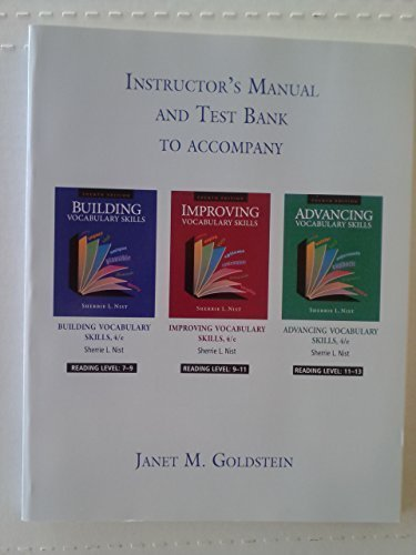 Download Instructor's Manual and Test Bank to Accompany Vocabulary Skills Series (Vocabulary Skills Series) PDF