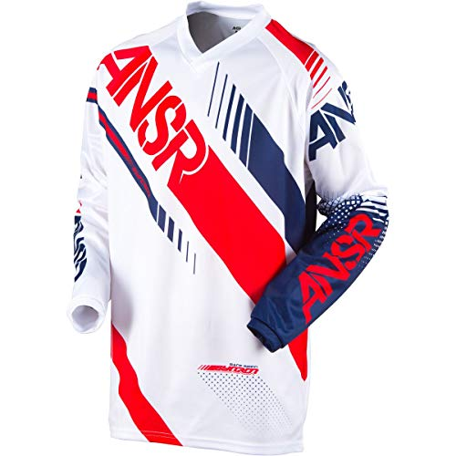 Red Riding Apparel Answer - Answer Racing Syncron Jersey - Small/White/Red