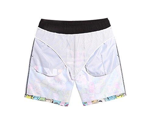 Lantra Besa Kleine Monster Wasserabweisend Schnelltrocknend Herren Männer Badehose Badeshorts Knielang Shorts für Wassersport Freizeit im Sommer mit Mesh Slip Typ 1 - S