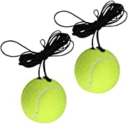 Outgeek Tennis Training Ball Self Practice Exercise Tennis Ball Rebound Ball with String for Tennis Trainer