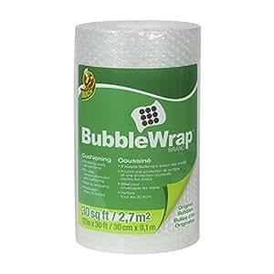 Duck Brand Bubble Wrap Original Cushioning, 12 Inches Wide x 30 Feet Long, Single Roll (393251)