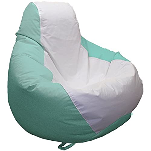 Ocean Tamer Medium Teardrop Marine Bean Bag (White/Seafoam)