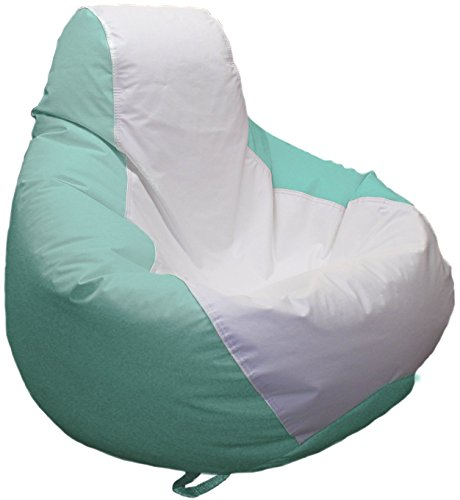 Ocean-Tamer Medium Teardrop Marine Bean Bag (White/Seafoam)