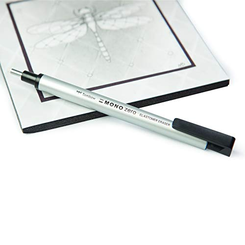 Tombow Holder Eraser, Mono Zero Square Shaper, Silver (EH-KUS04) by Tombow (Image #3)