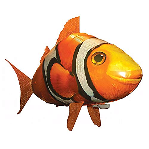 EnjoCho 1PCS Remote Control Shark Toys Air Swimming Fish Infrared RC Flying Air Balloons Nemo Clown Fish Kids Toys Gifts Party Decoration ()