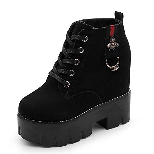 Luck Zapatos Tacón Good De 35 En Viento For Cortas Black Estudiantes You El Con Martin Agecc Aguja Womens 36 Botas Ladies Mujer Winter 7BXxHU