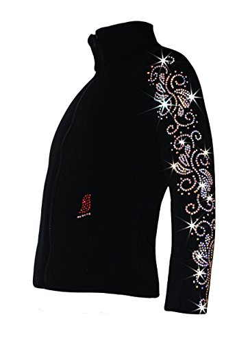 """Ice Fire Polartec Figure Skating Jacket with """"Crystals Sw..."""