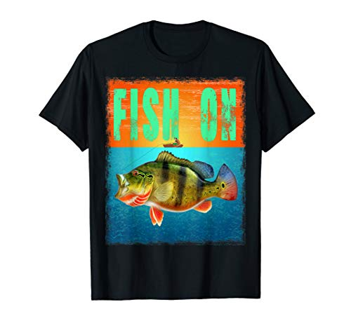 Fish On Peacock bass Fishing T Shirt (Best Peacock Bass Fishing In Miami)