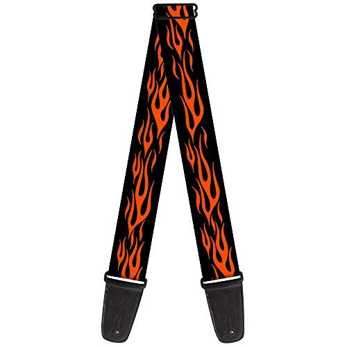 Buckle-Down Guitar Strap - Flame Orange ()