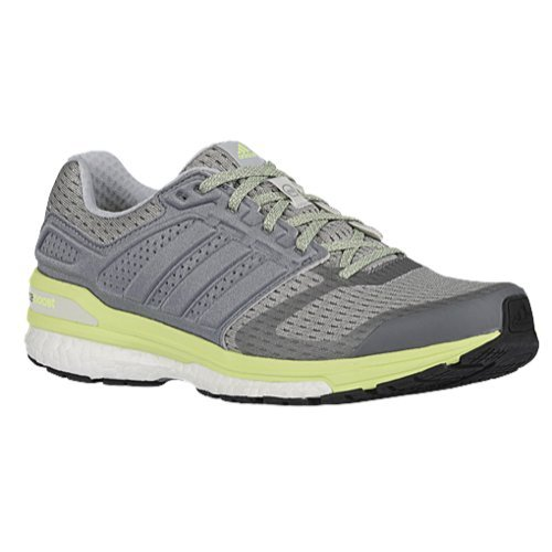 brand new 81a6f e9aaf Galleon - Adidas Women s Supernova Sequence Boost 8 Grey White Frozen  Yellow 6 B US