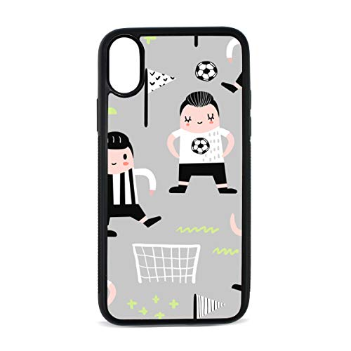 iPhone Fencing Player Cute Childlike Creative Movement Digital Print TPU Pc Pearl Plate Cover Phone Hard Case Cell Phone Accessories Compatible with Protective Apple Iphonex/xs Case 5.8 Inch (Creative Player Case Digital)