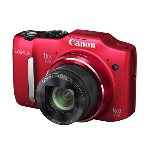 Canon PowerShot SX160 IS 16.0 MP Digital Camera with 16x Wide-Angle Optical Image Stabilized Zoom with 3.0-Inch LCD (Red) (OLD MODEL) Review