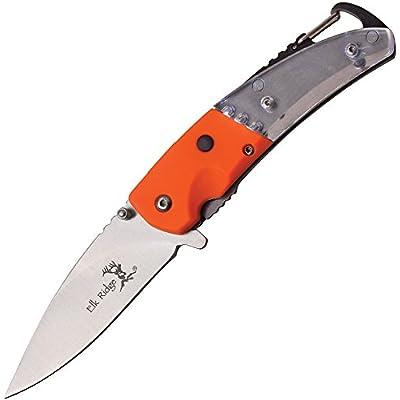 Elk Ridge era157or, couteau de poche unisexe–Adulte, Orange, Taille unique