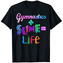 gymnastics and slime is life colors athletic t shirt