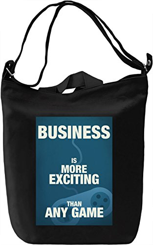Exciting business Borsa Giornaliera Canvas Canvas Day Bag| 100% Premium Cotton Canvas| DTG Printing|