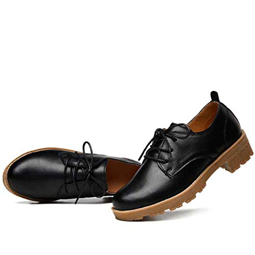 Urban Outfitters Leather Moccasins - Women Flats Leather Shoes Lace Up Ladies Moccasins Oxford Shoes Female Shoes Footwear Black