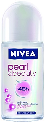 Nivea Deodorant Roll-on, 1.7 Fluid Ounce (PEARL & BEAUTY, PACK OF 6)