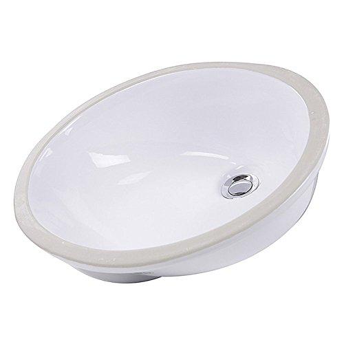 low-cost Nantucket Sinks Oval Glazed Ceramic Bathroom Sink