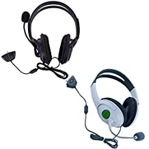 HDE Xbox 360 Headset Game Chat Xbox Live Headphone with Microphone - 2 Pack (Black & White)