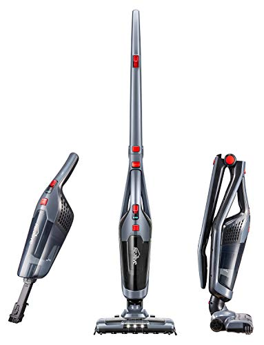 Kealive Vacuum Cleaner, Cordless Vacuum Cleaner 2 in 1, Lightweight Stick and Handheld Vacuum, High-Power Rechargeable Bagless Vacuum with Upright Charging Base, Black