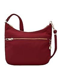 Travelon 43198 240 Anti-Theft Tailored Hobo Bag, Garnet, One Size