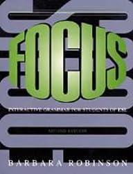 Focus: Interactive Grammar for Students of ESL by Barbara Robinson (1998-07-13)