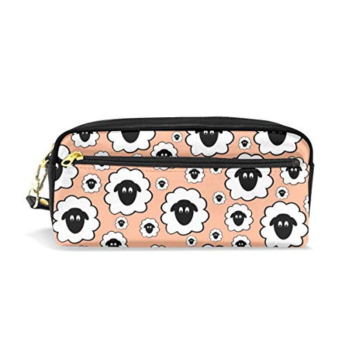 - Nursery Rhyme Sheep - Pale Peach_666 Cosmetic Bags Portable Travel Makeup Organizer Multifunction Case Bags for Women