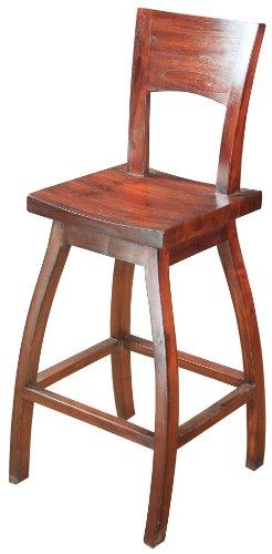 Sterling 6500822 Napa Wood Bar Stool 45-Inch Mahogany - Finished Mahogany Bar Stool