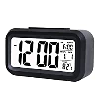 TOMTOO Alarm Clock Slim Digital Clock La...