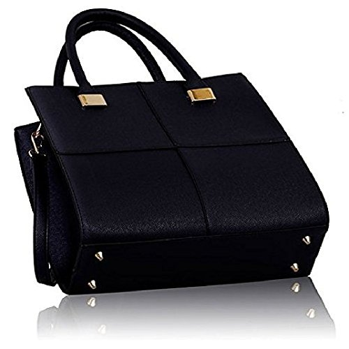 Celebrity Leather Style Ladies Satchel Satchel 4 Women Crossbody Tote Celebrity Shoulder Handbag Bag Style Style Navy qtwFda