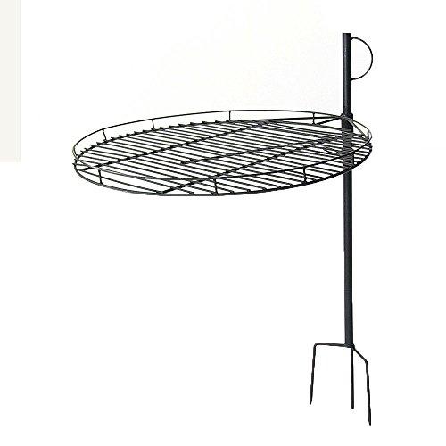 (Sunnydaze Height Adjustable Fire Pit Cooking Grate, 24 Inch Diameter)