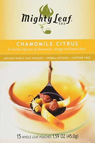 Tea Chamomile citrus mighty leaf,15 bag,1.59 oz Mightly Leaf Tea