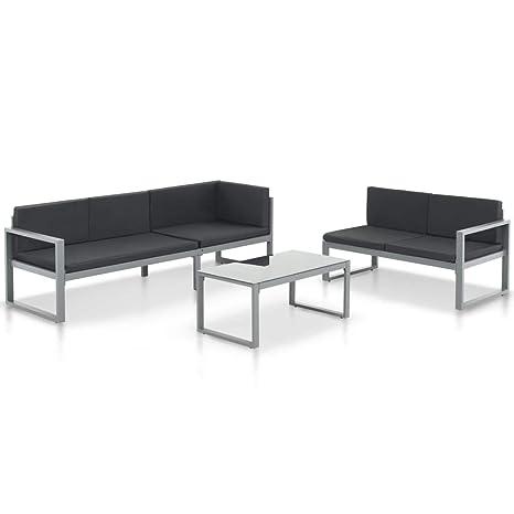 Festnight - Sofá de jardín de Aluminio, mobiliario para ...