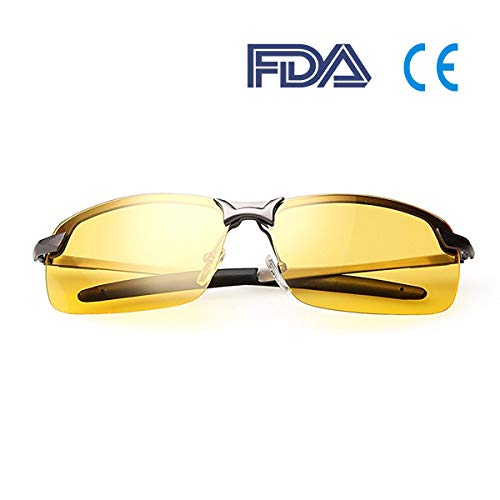 (Night Driving Glasses, Polarized Sports Sunglasses - Anti-glare | UV 400 Protection | Night Driving | Fishing | Outdoor Sport | Unisex Eyewear)